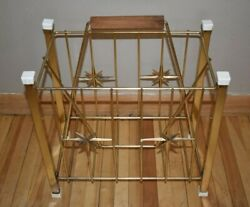 Vintage Magazine Holder Mid Century Rack Metal Stars MCM Decor Retro Atomic $89.99
