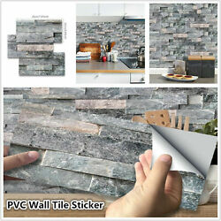 Self Adhesive Brick Tile 3D Sticker Kitchen Bathroom Wall Stickers Modern Decor $8.49