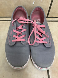 Vans Off The Wall Girls White iridescent Shoes size 4 Y $12.00