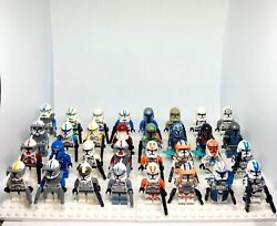 You Pick Star Wars Minifigures Clones Mandolorians Blasters Included Customs $58.99