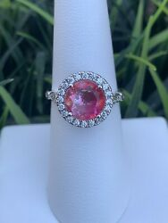 Ring Bomb Party Size 7 Pink Ombre Crystal And White Topaz Ring $21.00