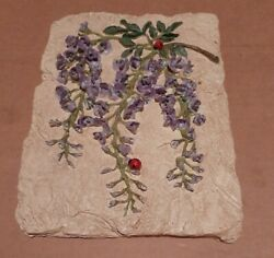 Wall Hanging Lady Bug And Flowers $7.50