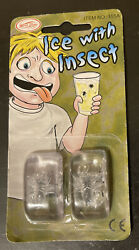 Joke Novelty Pack of 2 Ice Cube with Insect Funny Drink Prank Trick Stocking $4.00