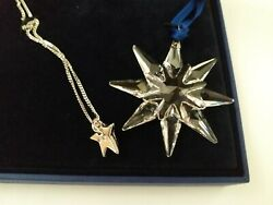 SWAROVSKI LITTLE STAR SET #1044447: A star snowflake star necklace MIB $49.99