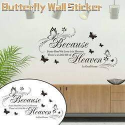 English Proverbs Butterfly Wall Stickers Living Room Bedroom Decorative Stickers $6.99
