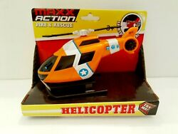 Toy Helicopter Maxx Action FIRE amp; RESCUE Lights and Sound 5.5quot;×3quot; Ages 3 NEW $13.95
