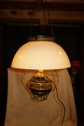 Antique 14quot; Victorian Hanging Oil Lamp $100.00