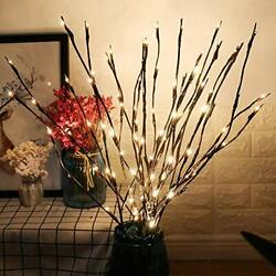 2 Pack LED Branch Lights Battery Powered Decorative Lights String Willow