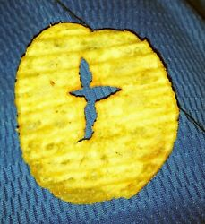 Cross in the Middle of a Potato Chip Found in a Bag of Chips Weird Chip $180.00