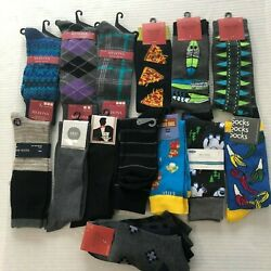 Lot of Mens Socks 16 Pair: 13 Crew amp; 3 Ankle Various Brands Colors New with Tags $19.19
