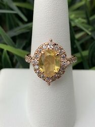 Ring Bomb Party Size 7 Citrine Rose Gold Ring $21.00