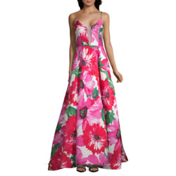 B. Smart WOMENS GIRLS PROM DRESS SIZE 5 FORMAL Party Juniors PINK $200 FLORAL $99.99