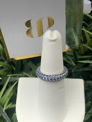 Ring Bomb Party Size 6 Tanzanite Cubic Zirconia Sterling Silver Ring $38.00