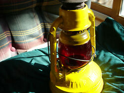 Dietz Railroad Latern Yellow with Red Globe Very Good Condition $42.00
