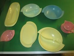 lot of 8 Boonton Ware dinnerware bowls cups plates $29.99