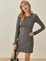 Reformation Kylie Dress in Smoke Grey Dress Size S