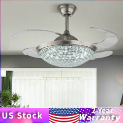 Fan 42quot; inch Contemporary Crystal Silver Ceiling Fan with Light Kit amp; w Remote $144.66