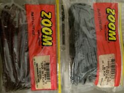 ZOOM SUPER SALT PLUS FINESSE BLACK amp; WATERMELON RED WORMS $11.50