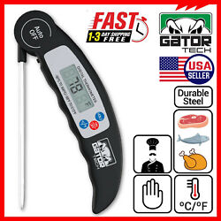 Digital Electronic Food Meat Thermometer LED Kitchen Cooking BBQ Grill Foldable