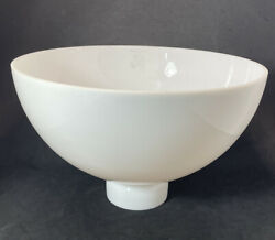 10quot; Vtg Corning Milk Glass Diffuser Torchiere Lamp Shade Deco Floor White Smooth $39.99