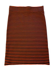 NEW Madewell Womens Fitted Stretch Striped Navy Red Pencil Skirt size XS $9.75
