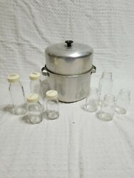 Vintage Glass Davol Feed Rite amp; Evenflo Bottles With Sterilizer 8 Oz 4 Oz Lot $38.99