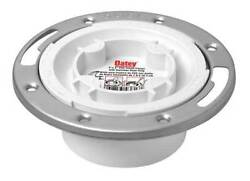 Oatey 43553 Toilet Flange Floor With Stainless Steel Ring $7.41