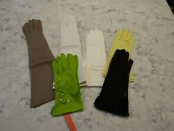 Lot 6 Pairs Vintage Gloves 4 Pairs NOS New Kid Leather 1 Pair Size 7 1 2 $39.00