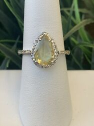 Ring Bomb Party Size 7 Light And Dark Citrine Ring $19.00