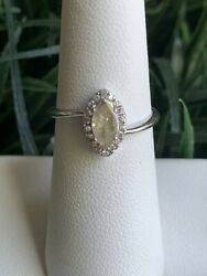 Ring Bomb Party Size 6 Champagne Ice Crystal And White Topaz Dainty Ring $17.00