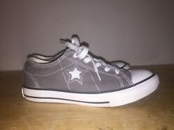 Converse One Star Kids 603650FT Athletics Low Top Gray Sneakers Junior Size 2 $23.99