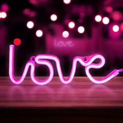 LED Love Neon Sign Night Light Party Wall Lamp Party Girls Room Decoration USA $12.08