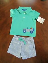 Carter#x27;s JOY Baby Boys 2 Piece Spring Summer Shorts Top Outfit Set Size 3 Months $10.00
