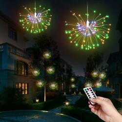 Fairy Lights firework LED Decorative Lights 8 Modes 100 200 LED Dimmable 2 Pack