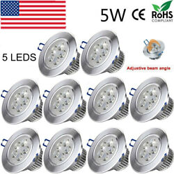 10PCS 5W Downlight LED Dimmable Spotlight Recessed Ceiling Lamp Light 110V $45.99