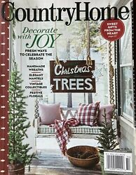 COUNTRY HOME WINTER 2020 DECORATTE WITH JOY CHRISTMAS TREES. $8.99