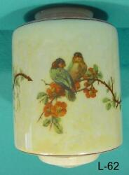 L 62 Antique Shade Parrot Motif on beautiful electric shade for hanging fixture $395.00
