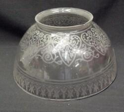 L 142 Antique Shade Gas or kerosene banquet 4quot; Fitter Beautiful etching $39.50