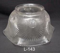 L 143 Antique Shade Gas or kerosene banquet 4quot; Fitter Beautiful pattern $29.50
