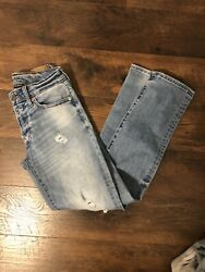 American Eagle Mens Next Level Airflex Slim Straight Distressed Jeans 26x30 $25.00