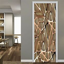 Living Room Door Stickers 3D Murals Home Abstract Wall Decorations Eco friendly $40.63