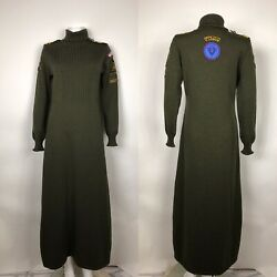 Rare Vtg Moschino Cheap and Chic Green Long Dress M $268.00