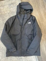 North Face ThermoBall 550 Fill Down Triclimate 3 in 1 Jacket Men's XL Black EUC $110.00