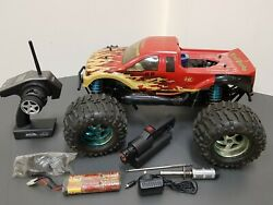 Heng Long Land Overlord 4WD 1 8 RC Nitro Monster Truck ARTR LRP ZR.30 Losi LST AU $340.00