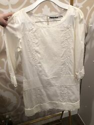 pam gela embroidered beach cover up size p $95.00