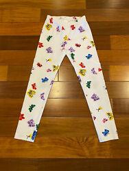 Hanna Andersson Girls White Butterfly Leggings Pants Size 130 8 EUC $11.99