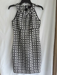 JUST TAYLOR BLACK AND WHITE DRESS SIZE 2 $15.00