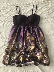 Katia Plum Floral Cocktail Formal dress 🔸 Size Medium $5.99