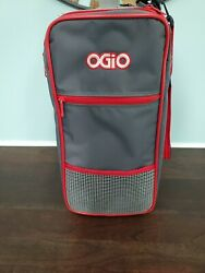 Ogio The Original Locker Bag Gray Red with Shoulder Strap 16x14x8 GREAT $39.99