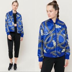NEW $130 Nike Women Sportswear quot;JUST DO ITquot; Icon Clash Bomber Jacket Blue Size S $74.00